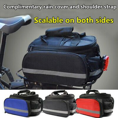 Details About Pannier Rack Bike Seat Rear Pouch Pack Shoulder Tail