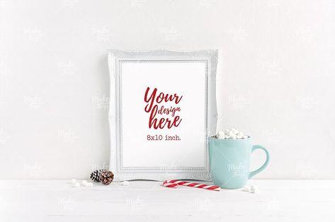 Christmas frame mockup #5252 by Make Beautiful Things on @creativemarket