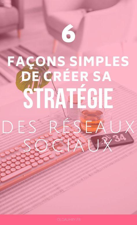 6 façons simples de créer sa stratégie des réseaux sociaux - Olga Uhry - Rédaction Web, Traduction, Social Media Manager