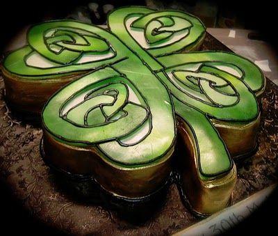 Celtic clover cake for St. Patrick's Day