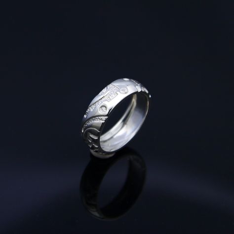 Sterling Silver Carved Ring by RayTracey on Etsy