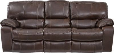 Excellent Sanderson Walnut Leather Power Reclining Sofa Couches Andrewgaddart Wooden Chair Designs For Living Room Andrewgaddartcom