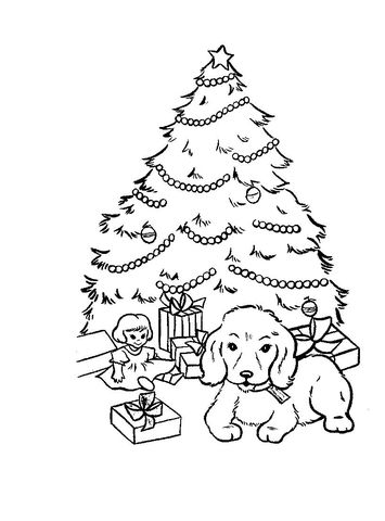 Christmas Presents And Gifts Under Christmas Tree Coloring Page Christmas Tree Coloring Page Tree Coloring Page Christmas Coloring Pages