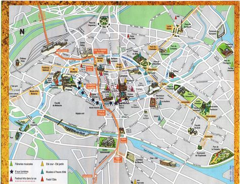 Strasbourg Map Attractions Places Ive been Pinterest