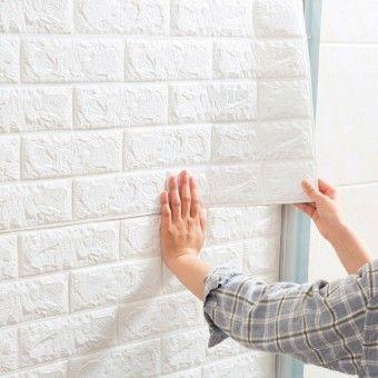 Reviews Jujiajia 3d Brick Stone Textured Self Adhesive Waterproof Renovated Wall Stickeritem Is Reall Wall Stickers Brick Wall Stickers Room Cladding Wallpaper