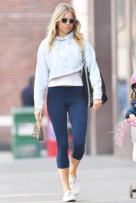 Celebrity Legging Outfits After 30