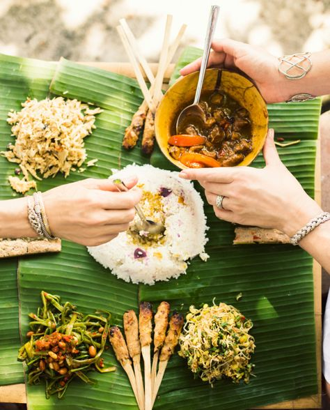 Traditional Balinese Food Cooked And Served At Bali Asli