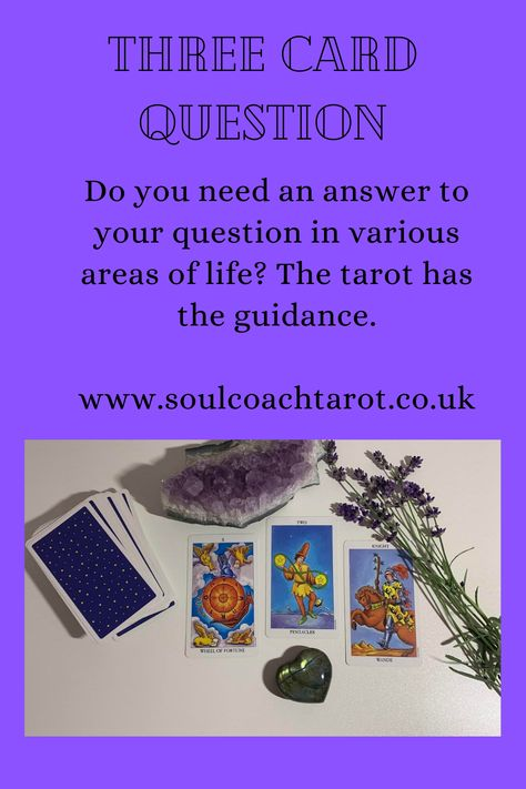 Do you require guidance on a specific question? The Tarot can help you achieve clarification on many areas of life and encourage you to make the right decision for you. My Three Card Tarot Spread is simple but effective which is all you need when seeking guidance. Why not give it a try? I am an Intuitive Tarot Reader of over 10 years and provide sincere and compassionate advice. Joanne www.soulcoachtarot.co.uk #tarotreadings #tarotguidance #intuitivereadings #threecardspread #professional