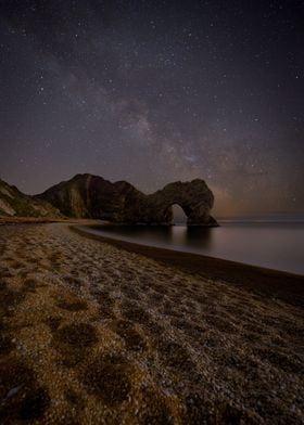 Dorset Jurassiccoast Jurassic Milkyway Night Beach Coast Durdledoor As
