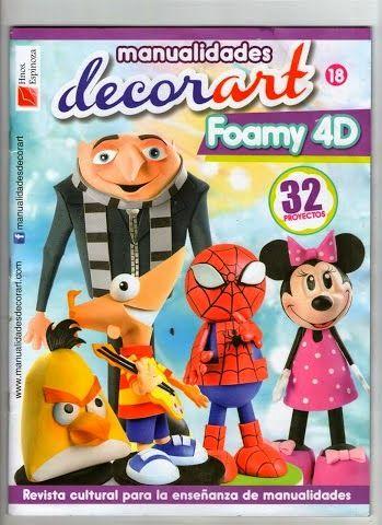 Revistas de manualidades Gratis: Personajes de Disney en Goma eva paso a paso