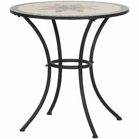 Siena Garden Tisch Stella O 70 Cm Rund Gestell Eisen Mosaik Optik Gartentisch Mosaiktisch Esstisch Rund Ausziehbar