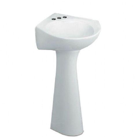 American Standard Cornice Pedestal Combo Bathroom Sink In White Corner Pedestal Sink Pedestal Sink Sink