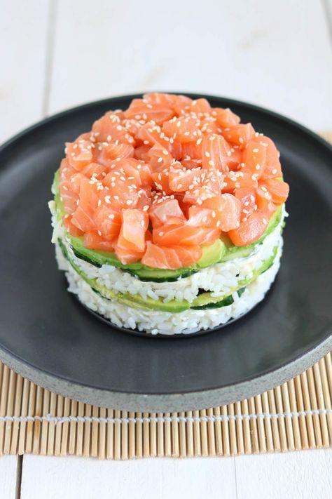 Sushi taart - Lekker eten met Linda
