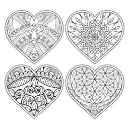 Mandalas Para Colorear Y Relajarse Heart Coloring Pages Dot Art Painting Mandala Design Art