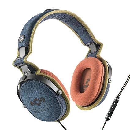 House Of Marley Em Jh063 Bd Rise Up Blue Denim On Ear Headphones