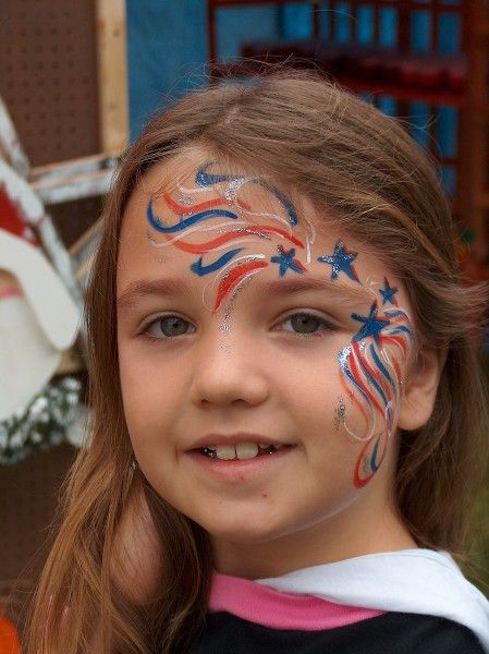 DIY Star Spangled Face Paint #DIY #FacePainting #CheekArt #VeteransDay #FlagDay #MemorialDay #FourthOfJuly #4thOfJuly #Birthdays #Birthday #Party #Parties