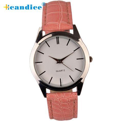Hcandice Relogio Masculino Feminino Leather Quartz Analog Dress Bracelet Wrist Fashion Womens Mens Watch May4 #Affiliate