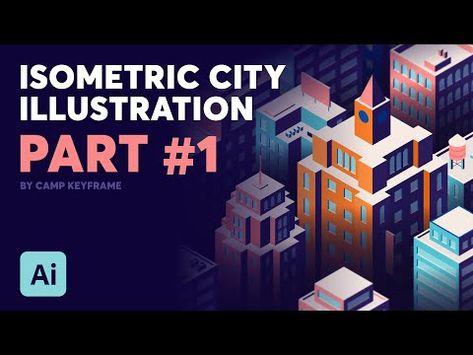 Isometric City Illustration - Tutorial PART #1