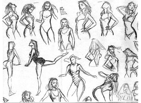 Pocahontas Sketch Study, Glen Keane