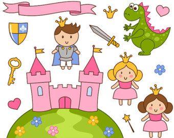 Susse Kleine Prinzessin Clipart Pink Princess Clipart Burg Clipart Kleine Prinzessin Prinzessin
