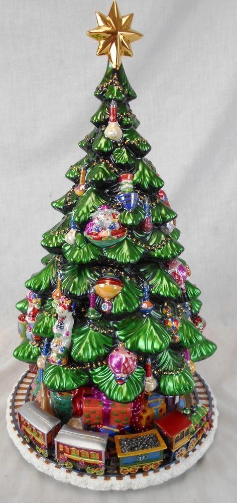 Huge Christopher Radko 15th Anniversary Christmas Tree Music Box Cookie Jar Christmas Tree Music Box Anniversary Christmas Christmas
