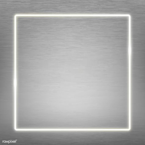 Premium Vector Of Square White Neon Frame On A