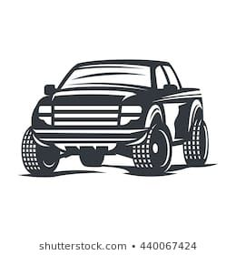 Similar Images Stock Photos Vectors Of Two Cartoon Vintage Pick Up Truck Outline Drawings One Red And One Blac Badge Icon Emblem Logo Vintage Pickup Trucks