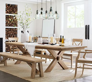 Toscana Extending Dining Table Tuscan Chestnut Pottery Barn In 2020 Extendable Dining Table Farmhouse Dining Room Table Pottery Barn Dining Room