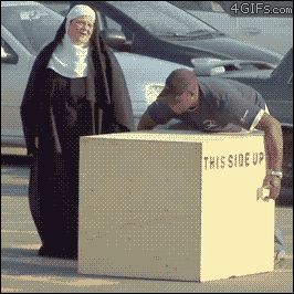 From a previous pinner: Funny Pranks In GIFs Haha theres another person under the box