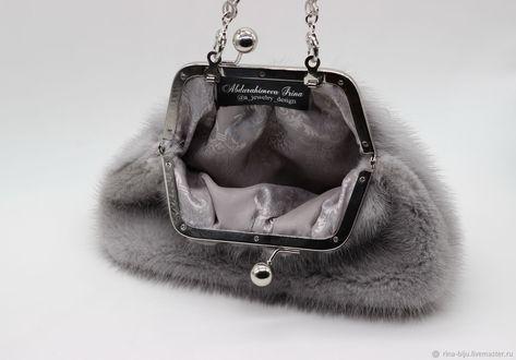 ca2299a33895 Женские сумки ручной работы. Норковая сумочка с жемчужными каплями. Ирина  Абдурахимова. Ярмарка Мастеров. Сумка норковая, фурнитура