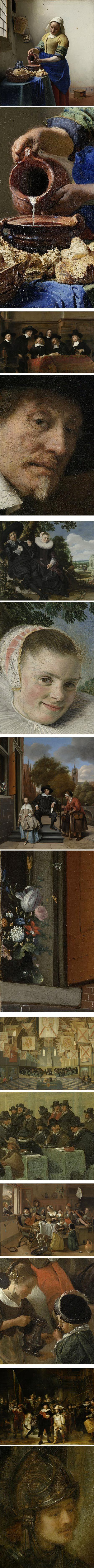 Rijksmuseum's selection for US President's visit:  Johnnes Vermeer, Rembrandt van Rijn, Frans Hals, Jan Havicksz Steen, Bartholomeus van Bas...