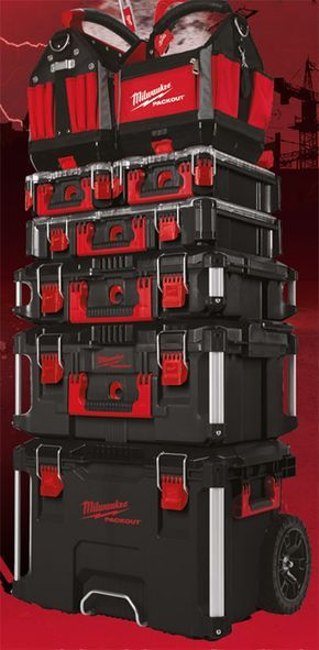 Milwaukee Packout Tool Box Stack In Black Milwaukee Power Tools Milwaukee Tools Tool Box
