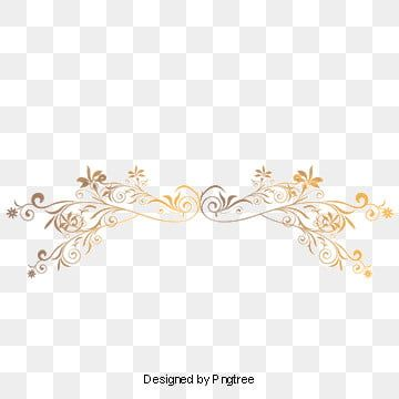 Gold Dividing Line Vector And Png Font Illustration Gold Free Invitation Cards