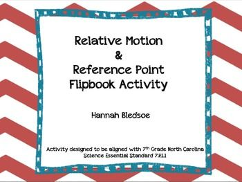 Relative Motion & Reference Point Flipbook Activity   Activities ...