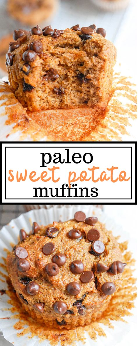These paleo sweet potato muffins combine healthy and simple ingredients like almond flour, almond butter, and sweet potatoes for a quick and easy breakfast or snack option that can be prepped ahead and enjoyed all week! #paleosweetpotato #sweetpotato #paleo #Paleomuffins #sweetpotatomuffins #grainfree #glutenfree