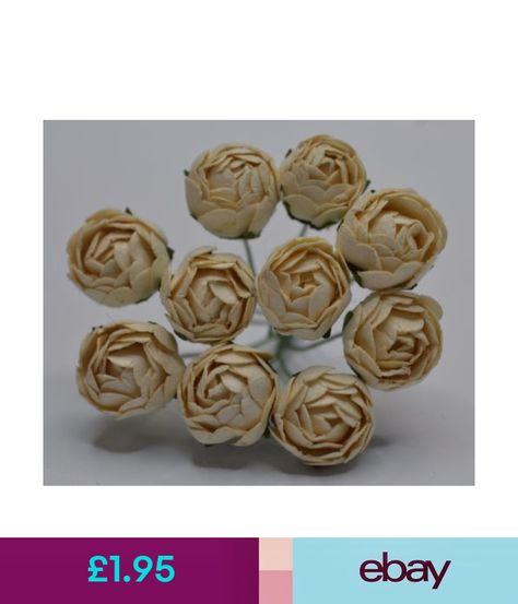 Paper Crafts 12 Off White Peony Buds S Mulberry Paper Weddings
