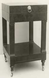 Duncan Phyfe Washstand - this is federal style, but seems to make a forward nod to art deco!