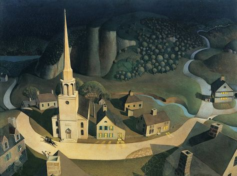 """Grant Wood, """"The Midnight Ride of Paul Revere"""", 1931"""