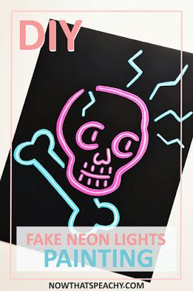 How To Paint A Fake Neon Lights Sign Tiktok Art Diy Trend Neon Painting Diy Canvas Art Painting Neon Light Signs