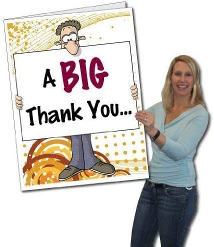 Victorystore Jumbo Greeting Cards Giant Thank You Card Big Nose 2 X 3 Card With Envelope In 2021 Funny Thank You Cards Funny Thank You Thank You Cards