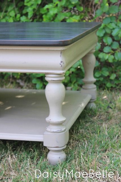 Chalk Painted Coffee Table Paint coffee tables Chalk paint and