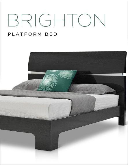 Brighton Gray Queen Platform Bed In 2020 Queen Platform Bed Platform Bed Statement Bedroom