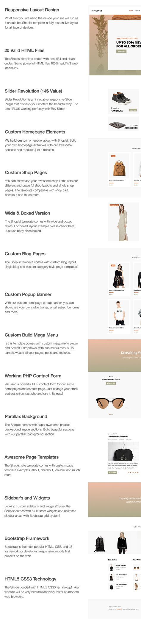 Shopist - Responsive Stylish Site eCommerce Template