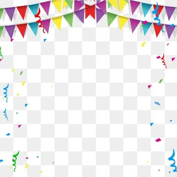 Happy Birthday Border Png Transparent Background Transparent Clipart Confetti Vector Png And Vector With Transparent Background For Free Download First Birthday Party Themes Happy Birthday Balloon Banner Happy Birthday Font