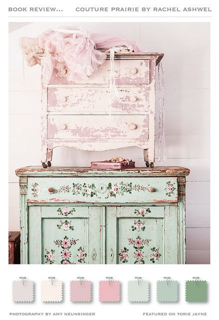 Shabby Chic Color Palette Couture Backyard Cottages