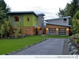 Image Result For Mid Century Modern Addition Above Garage Modern Prefab Homes Garage Design Exterior Design