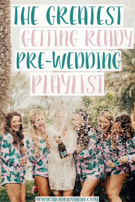 The Greatest Getting Ready Wedding Day Playlist,The greatest wedding day getting ready playlist! Awesome songs to listen to while getting ready with your girls on wedding day. Budget Wedding, Wedding Tips, Wedding Ceremony, Destination Wedding, Wedding Planning, Dream Wedding, Wedding Stuff, Wedding Photos, Garden Wedding