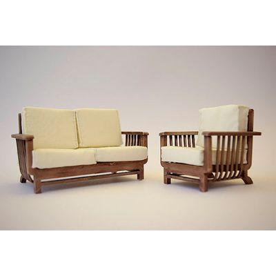 Teak Sofa Set Tw 326 With Images Sofa Set Wooden Sofa