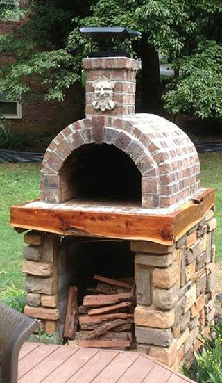 DIY Brick Pizza Oven by the Shiley Family & BrickWood Ovens The Shiley Family Wood Fired DIY Brick Pizza Oven in South Carolina - BrickWood Ovens Brick Oven Outdoor, Brick Bbq, Pizza Oven Outdoor, Pizza Oven Outside, Oven Diy, Diy Grill, Patio Grill, Pergola Patio, Fire Pit Backyard