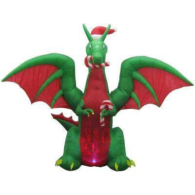 Animated Inflatable Kaleidoscope Dragon